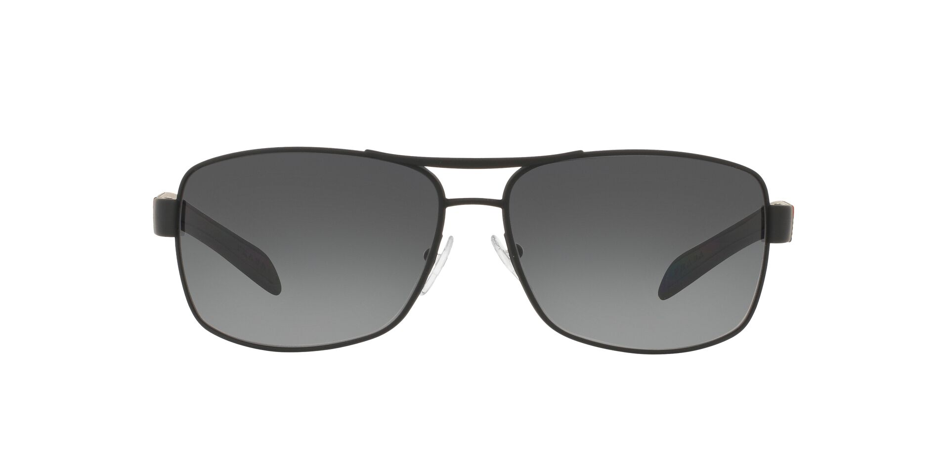 Prada Sport - PS54IS Black Rectangular Men Sunglasses - 65mm-Sunglasses-Designer Eyes