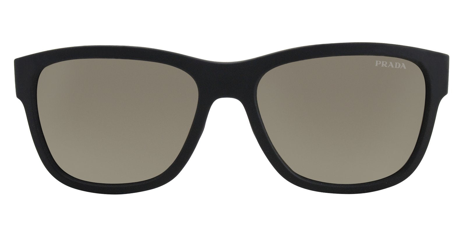 Prada Sport - SPS03Q Black Oval Men Sunglasses - 57mm