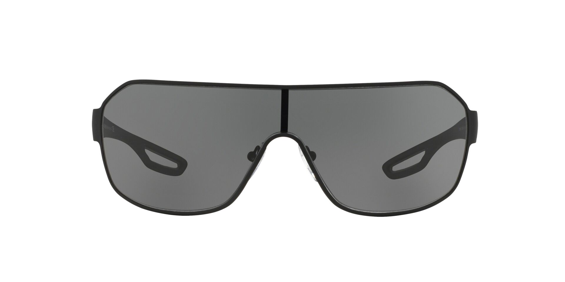 Prada Sport - SPS52Q Black Shield Men Sunglasses - 130mm-Sunglasses-Designer Eyes
