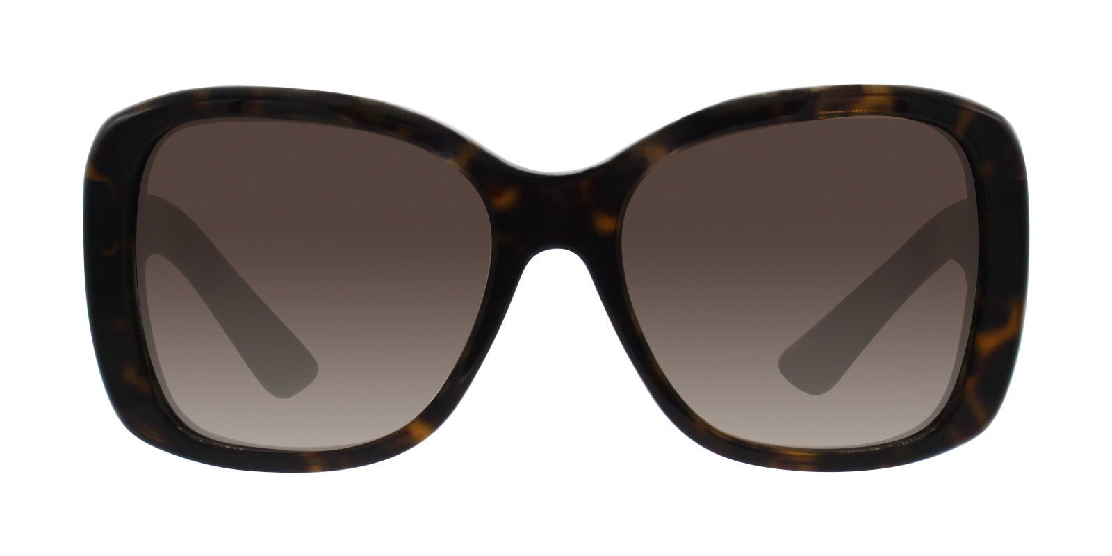 Prada - PR32PS Tortoise/Brown Gradient Rectangular Women Sunglasses - 57mm-Sunglasses-Designer Eyes