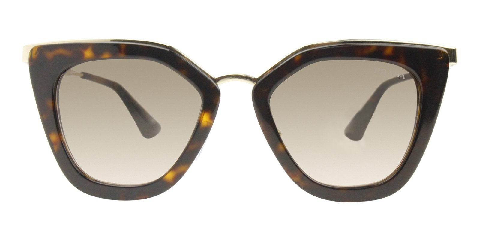 Prada - PR53SS Tortoise/Brown Gradient Oval Women Sunglasses - 52mm-Sunglasses-Designer Eyes
