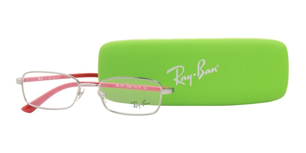 Ray Ban Jr - RY1037 Silver Rectangular Kids Eyeglasses - 47mm-Eyeglasses-Designer Eyes