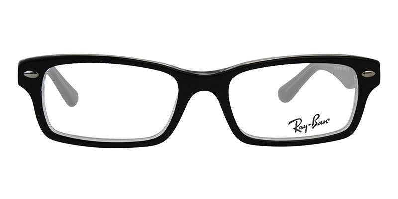 Ray Ban Rx - RY1530 Black Rectangular Kids Eyeglasses - 48mm-Eyeglasses-Designer Eyes