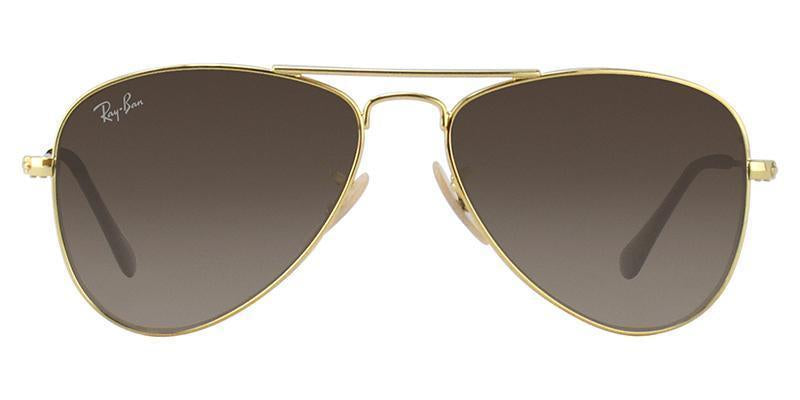 Ray Ban Jr - RJ9506S Gold Aviator Kids Sunglasses - 50mm-Sunglasses-Designer Eyes