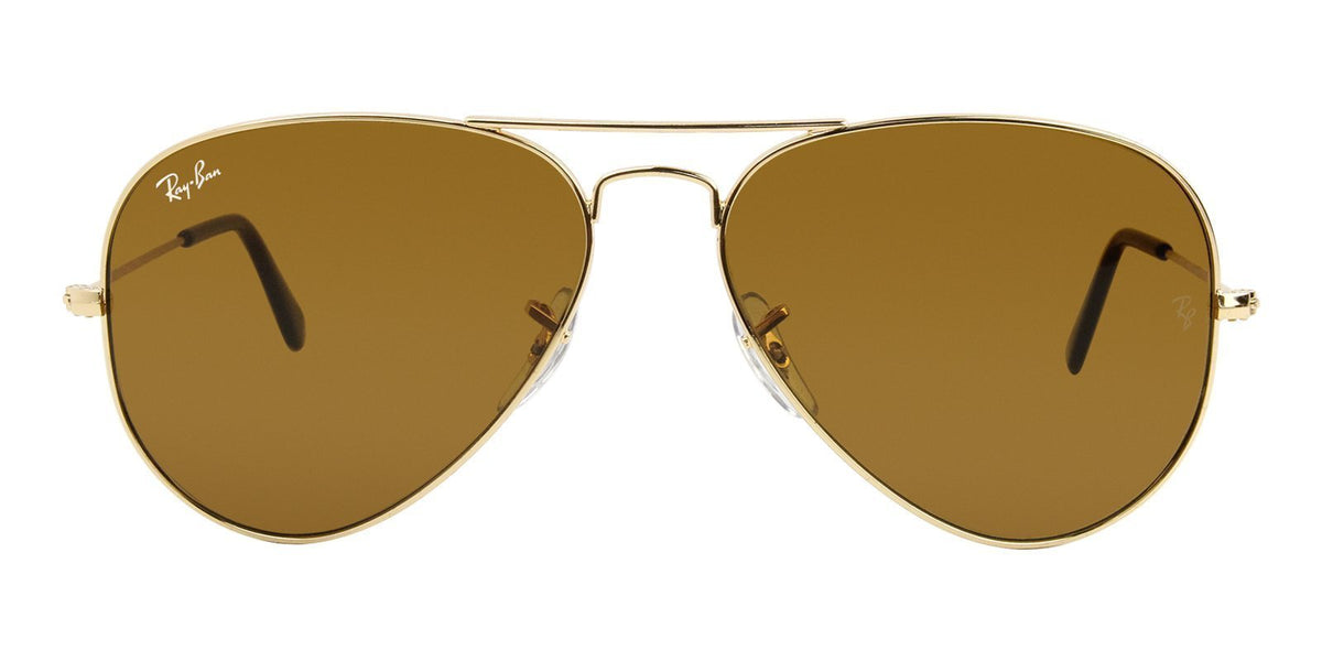Ray Ban - Aviator Classic Gold Unisex Sunglasses - 58mm-Designer Eyes