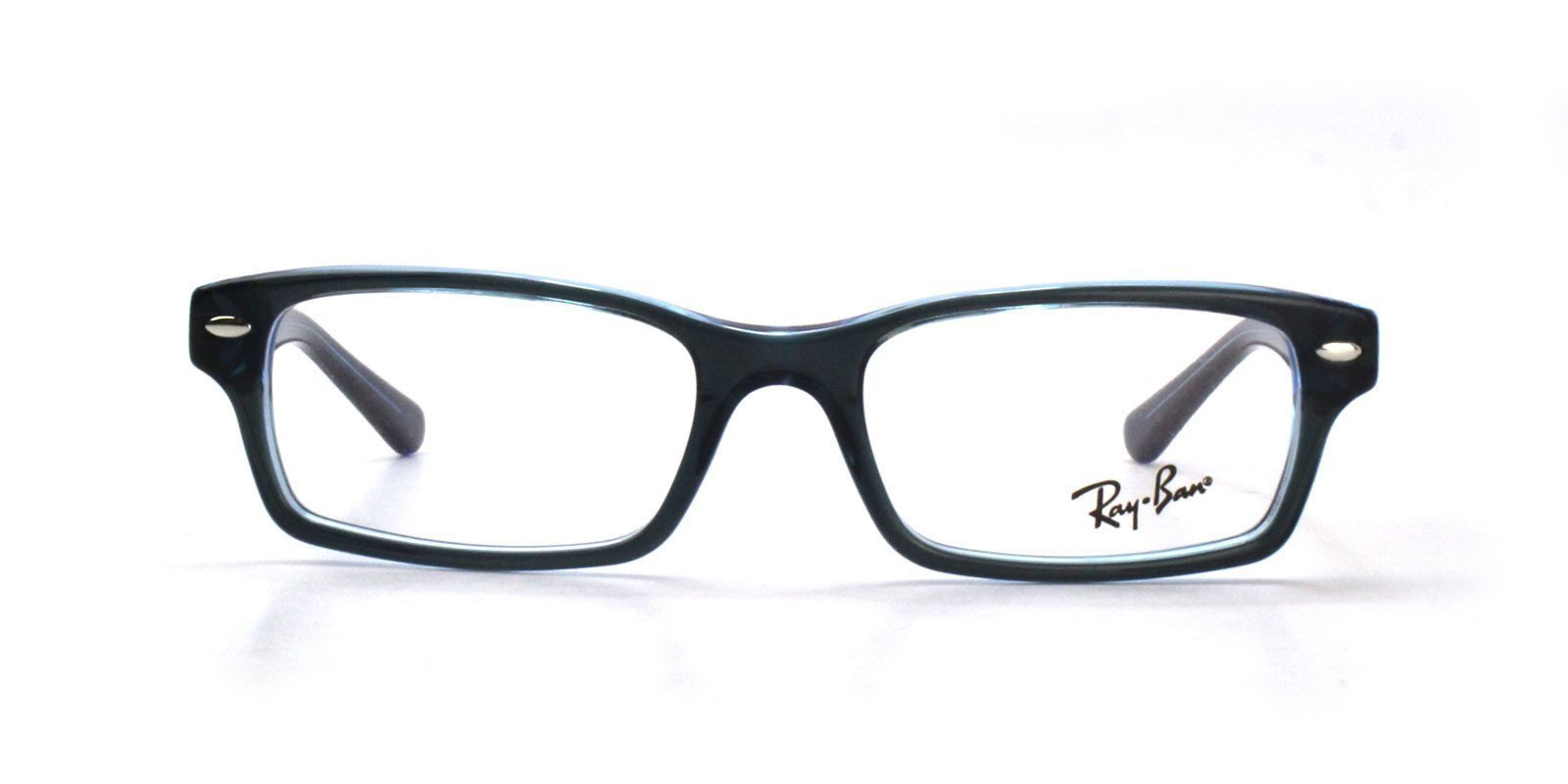 Ray Ban Rx - RB1530 Blue Rectangular Unisex Eyeglasses - 48mm-Eyeglasses-Designer Eyes