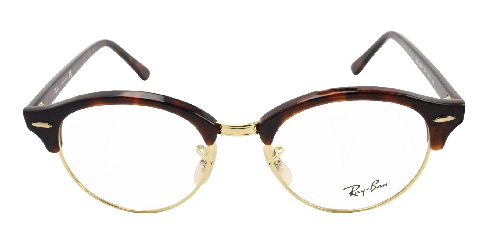 Ray Ban Rx - RX4246V Tortoise Oval Women Eyeglasses - 49mm-Eyeglasses-Designer Eyes
