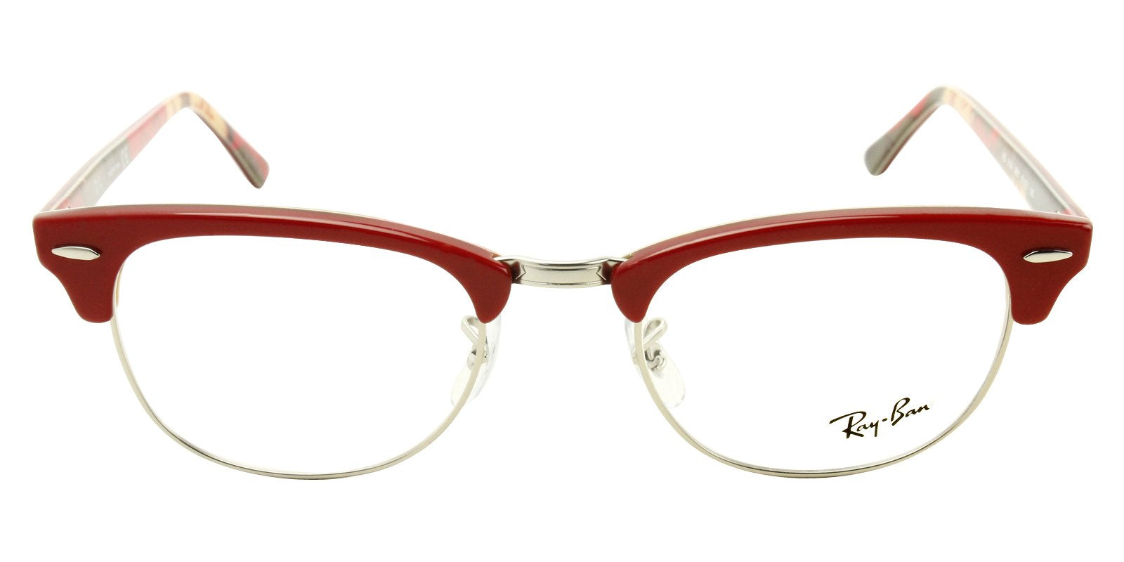 Ray Ban Rx - RX5154 Red Oval Women Eyeglasses - 51mm-Eyeglasses-Designer Eyes