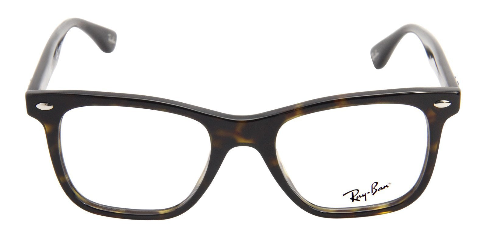 Ray Ban Rx - RX5248 Tortoise Rectangular Men Eyeglasses - 49mm-Eyeglasses-Designer Eyes