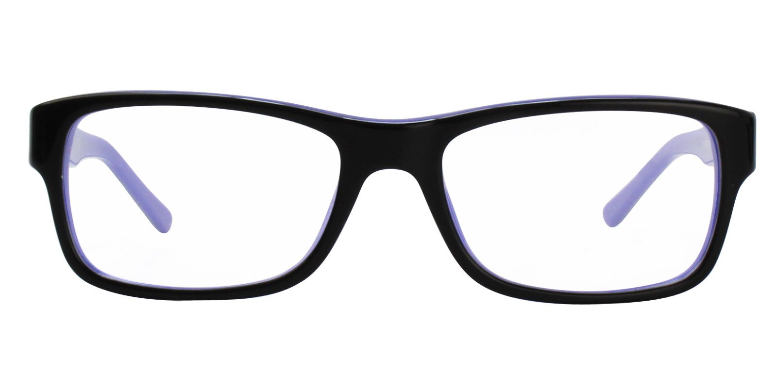Ray Ban Rx - RX5268 Black Rectangular Unisex Eyeglasses - 52mm-Eyeglasses-Designer Eyes