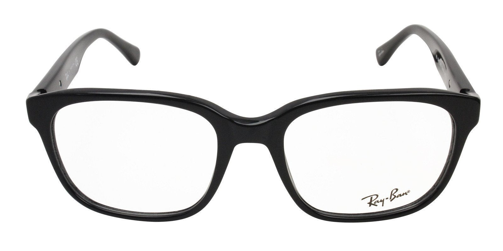 Ray Ban Rx - RX5340 Black Rectangular Women Eyeglasses - 53mm-Eyeglasses-Designer Eyes