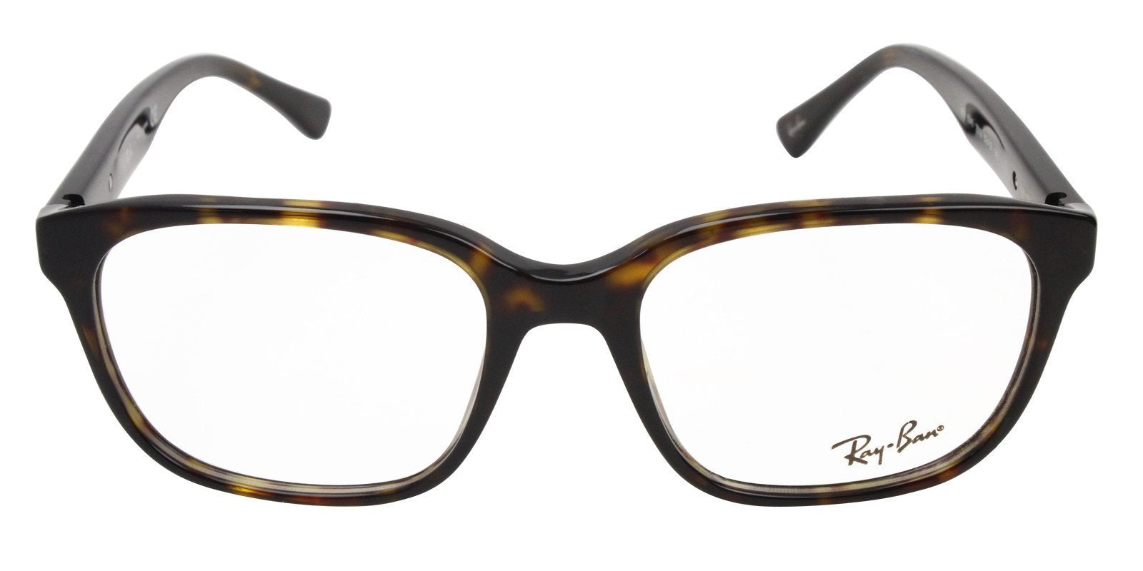 Ray Ban Rx - RX5340 Tortoise Rectangular Unisex Eyeglasses - 53mm-Eyeglasses-Designer Eyes