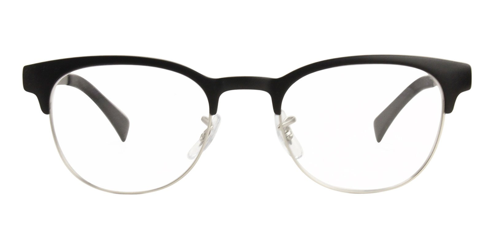 Ray Ban Rx - RX6317 Black Oval Unisex Eyeglasses - 49mm-Eyeglasses-Designer Eyes