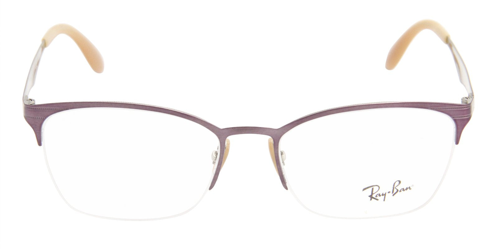 Ray Ban Rx - RX6345 Pink Semi-Rimless Women Eyeglasses - 52mm-Eyeglasses-Designer Eyes