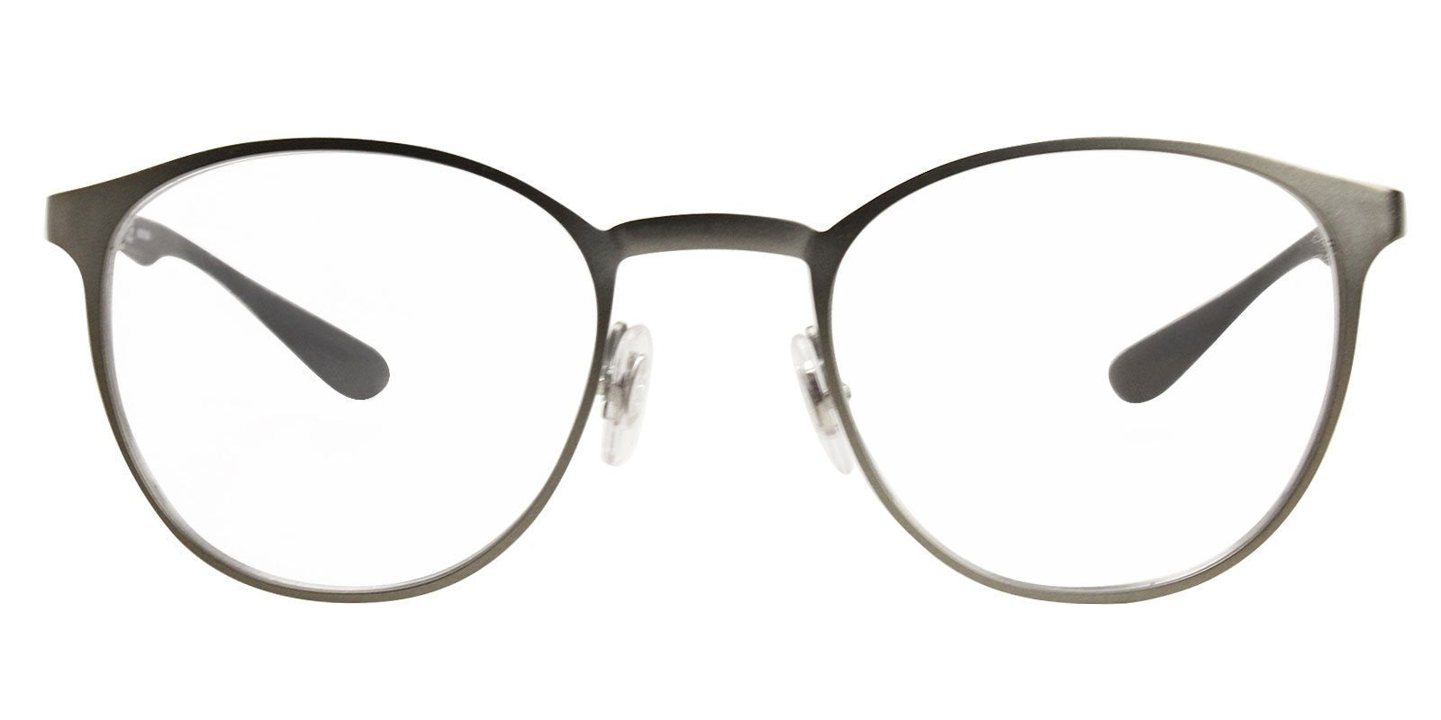 Ray Ban Rx - RX6355 Gray Oval Unisex Eyeglasses - 47mm-Eyeglasses-Designer Eyes