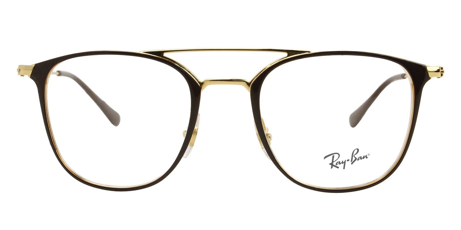 Ray Ban Rx - RX6377 Brown Rectangular Women Eyeglasses - 50mm-Eyeglasses-Designer Eyes