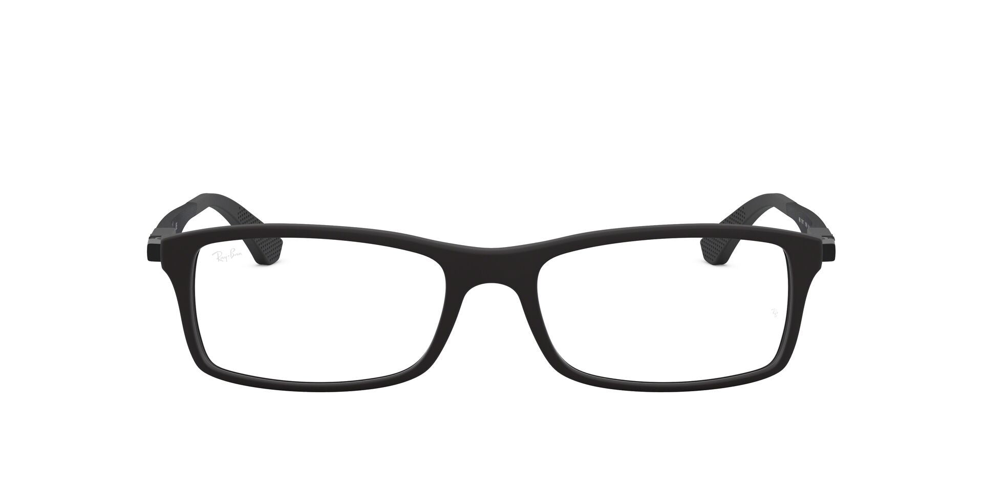 Ray Ban Rx - RX7017 Black Rectangular Men Eyeglasses - 54mm-Eyeglasses-Designer Eyes