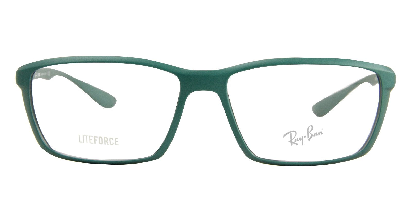 Ray Ban Rx - RX7018 Green Rectangular Unisex Eyeglasses - 56mm-Eyeglasses-Designer Eyes