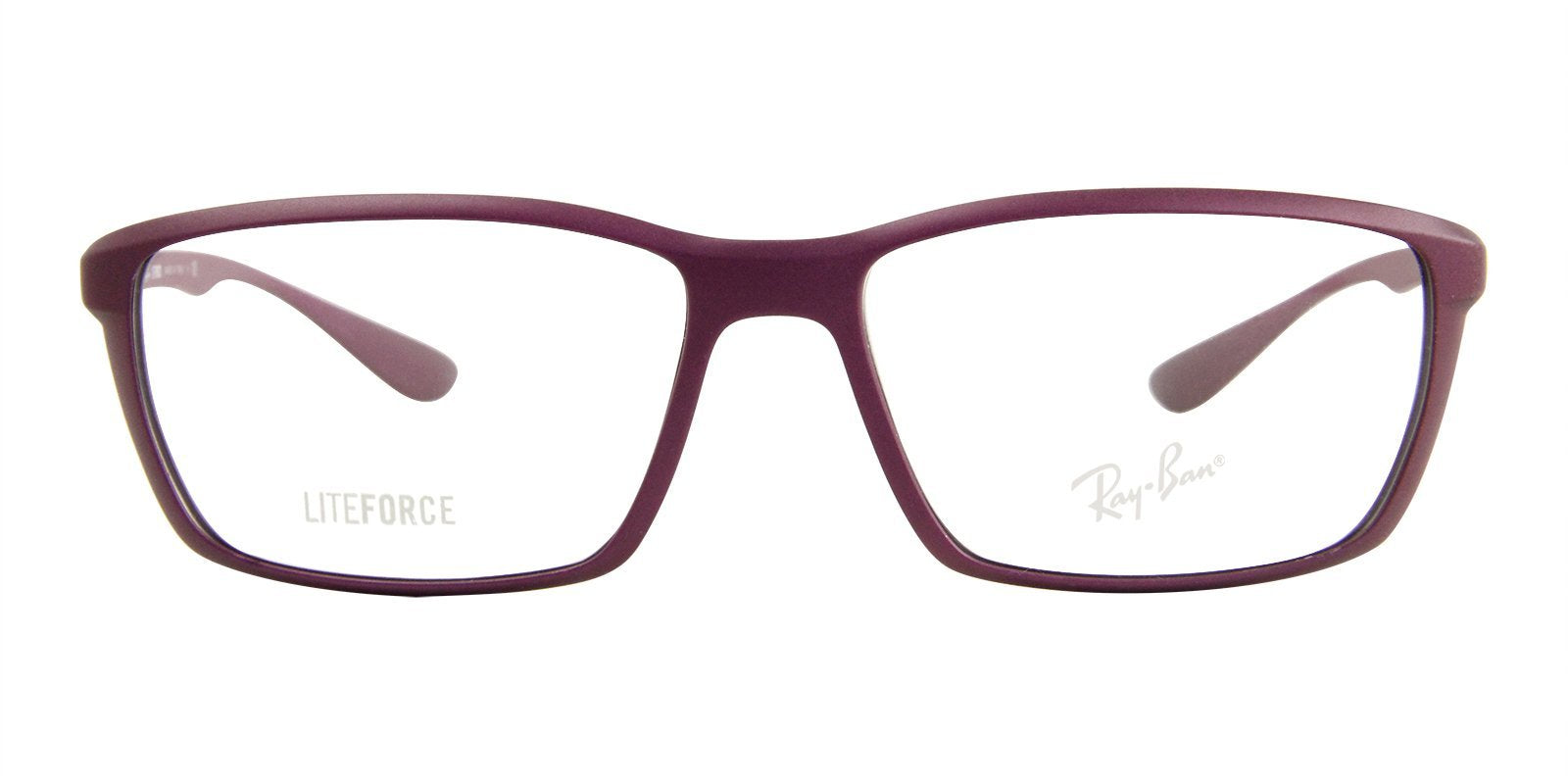 Ray Ban Rx - RX7018 Purple Rectangular Unisex Eyeglasses - 56mm-Eyeglasses-Designer Eyes