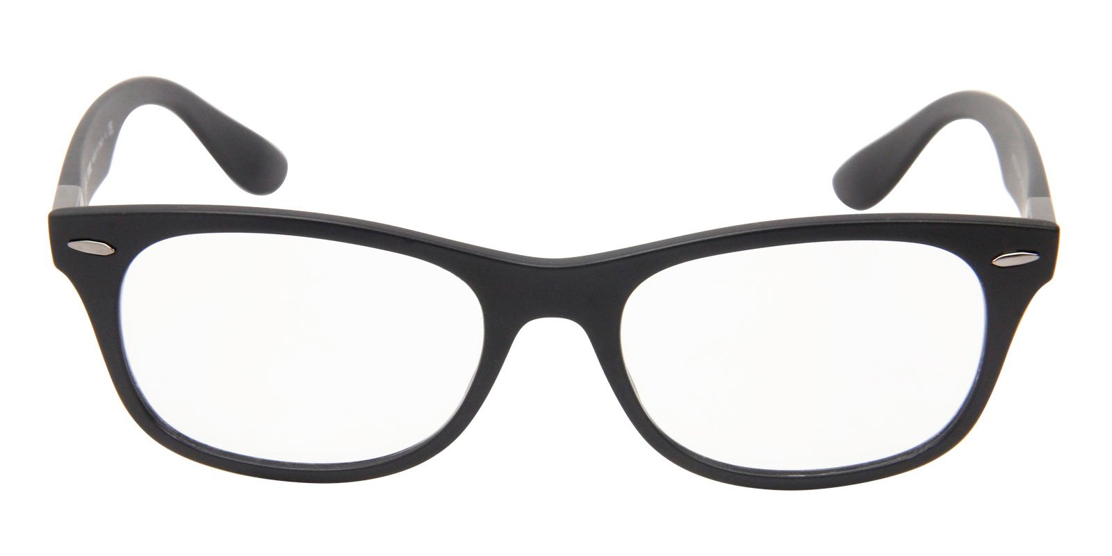 Ray Ban Rx - RX7032 Black Oval Men, Women Eyeglasses - 52mm-Eyeglasses-Designer Eyes