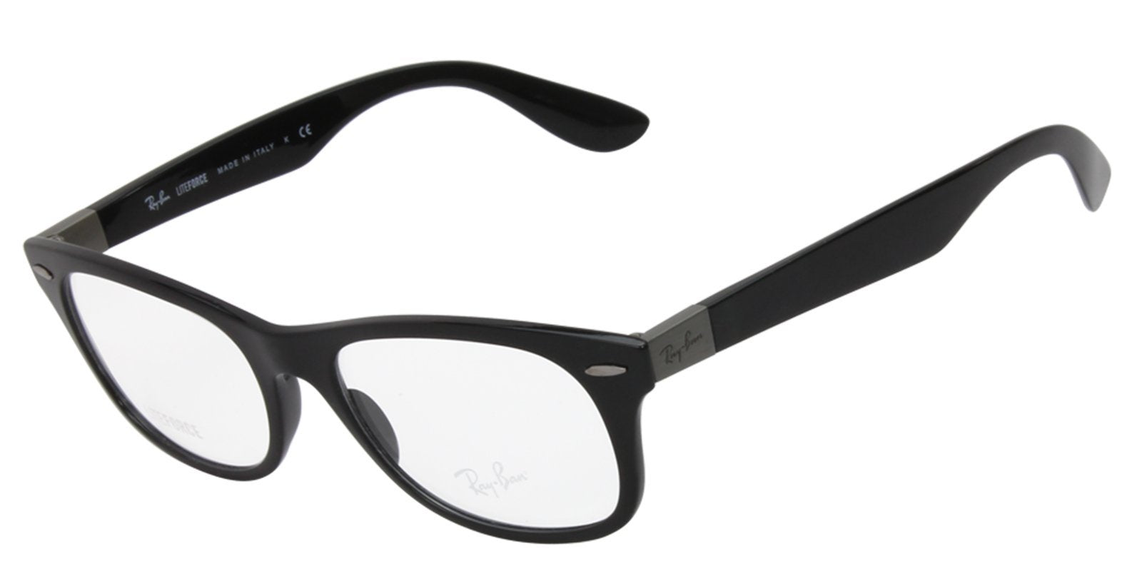 Ray Ban Rx - RX7032 Black Rectangular Men, Women Eyeglasses - 52mm-Eyeglasses-Designer Eyes