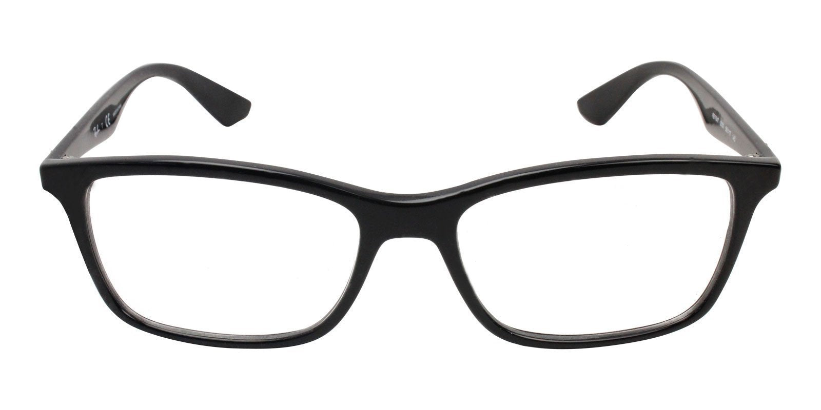 Ray Ban Rx - RX7047 Black Rectangular Unisex Eyeglasses - 56mm-Eyeglasses-Designer Eyes