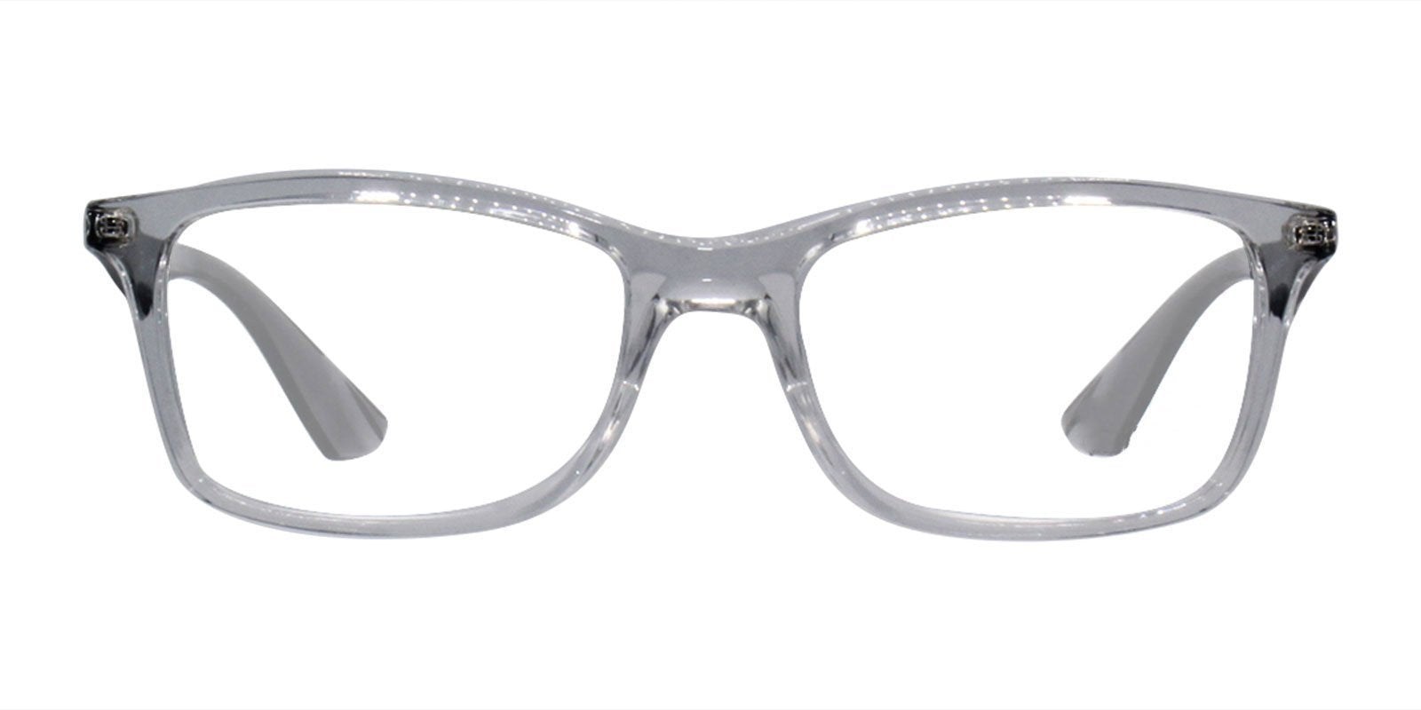 Ray Ban Rx - RX7047 Clear Rectangular Unisex Eyeglasses - 54mm-Eyeglasses-Designer Eyes