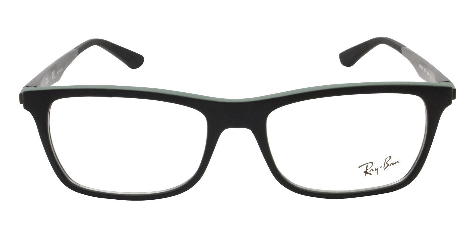 Ray Ban Rx - RX7062 Black Rectangular Men Eyeglasses - 55mm-Eyeglasses-Designer Eyes