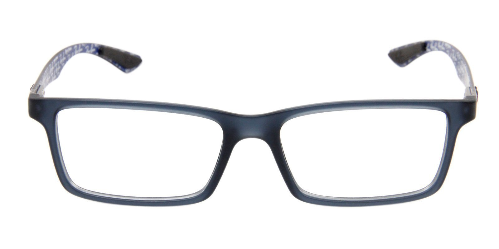 Ray Ban Rx - RX8901 Blue Rectangular Unisex Eyeglasses - 55mm-Eyeglasses-Designer Eyes