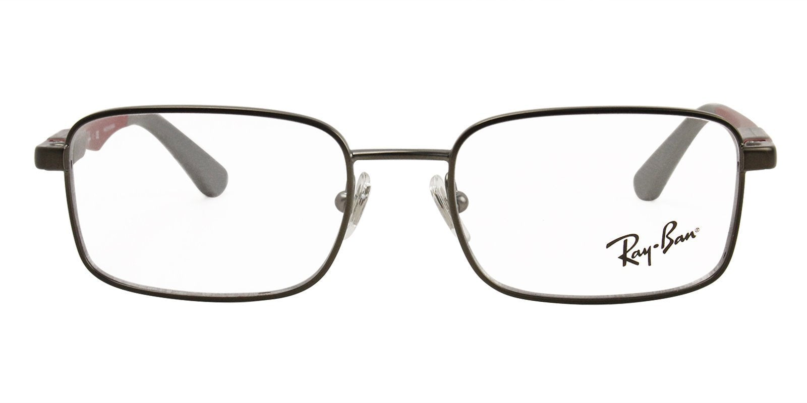 Ray Ban Rx - RY1043 Gray Rectangular Unisex Eyeglasses - 46mm-Eyeglasses-Designer Eyes