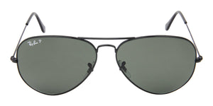 Ray Ban - Aviator Black Aviator Unisex Sunglasses - 62mm-Sunglasses-Designer Eyes