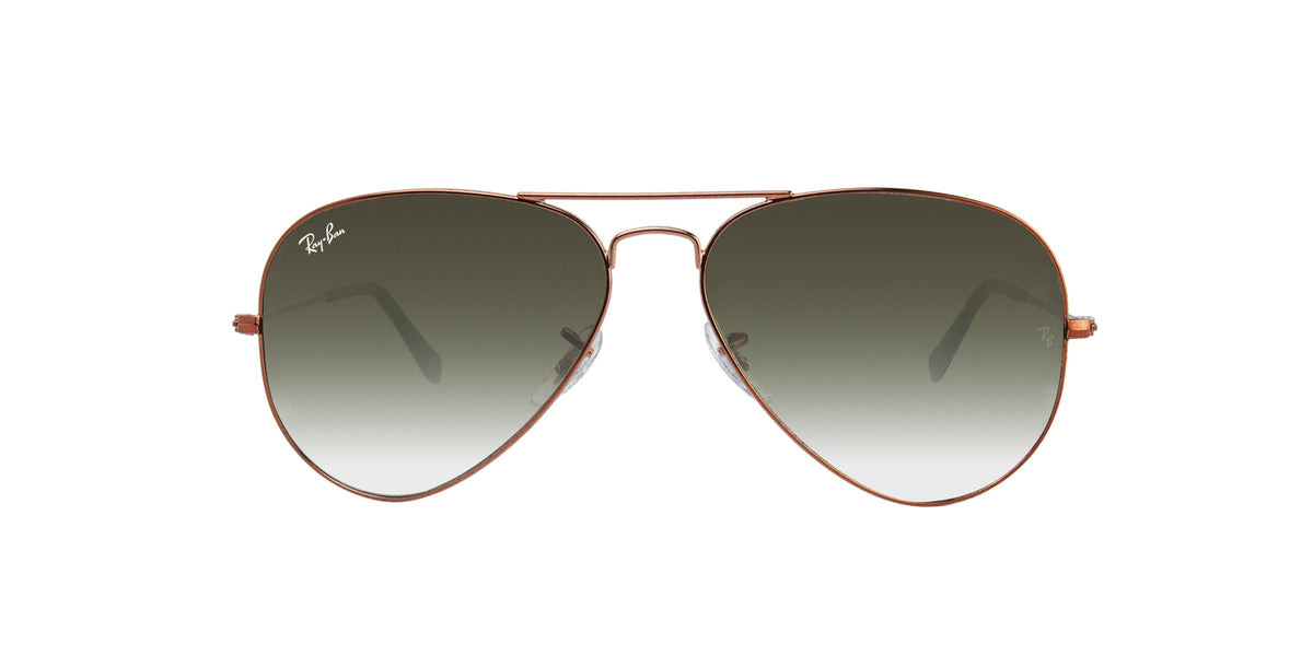 Ray Ban - Aviator Bronze Aviator Unisex Sunglasses - 58mm-Sunglasses-Designer Eyes