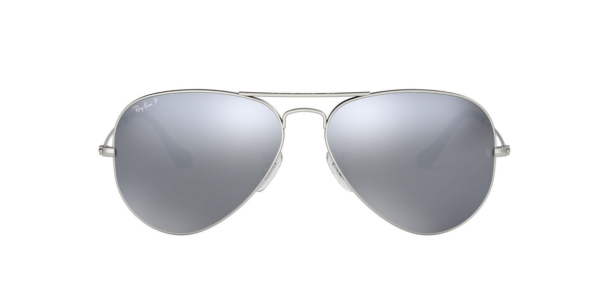 Ray Ban - Aviator Gray Aviator Unisex Sunglasses - 58mm-Sunglasses-Designer Eyes