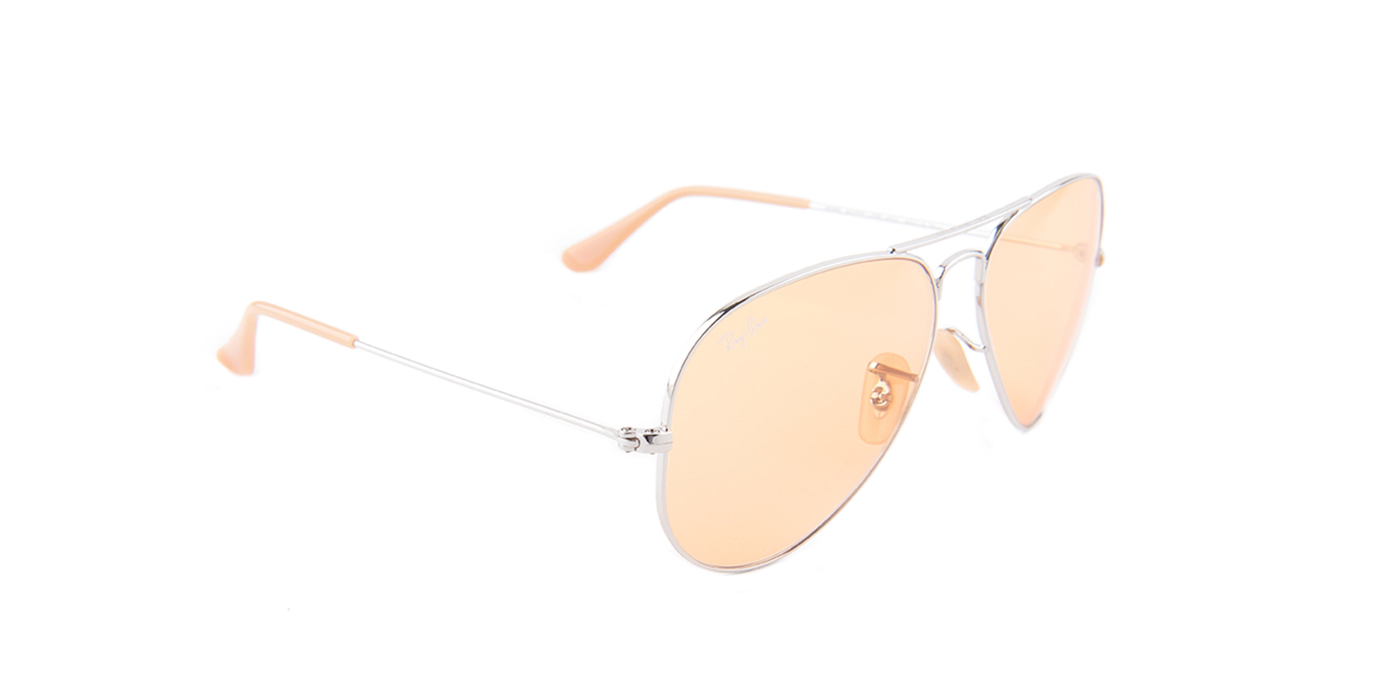 ray ban aviators womens silver