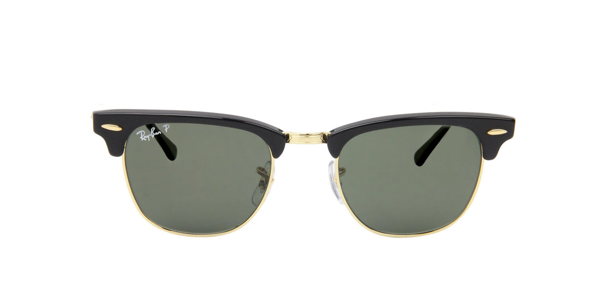 Ray Ban - Clubmaster Black Oval Unisex Sunglasses - 49mm-Sunglasses-Designer Eyes