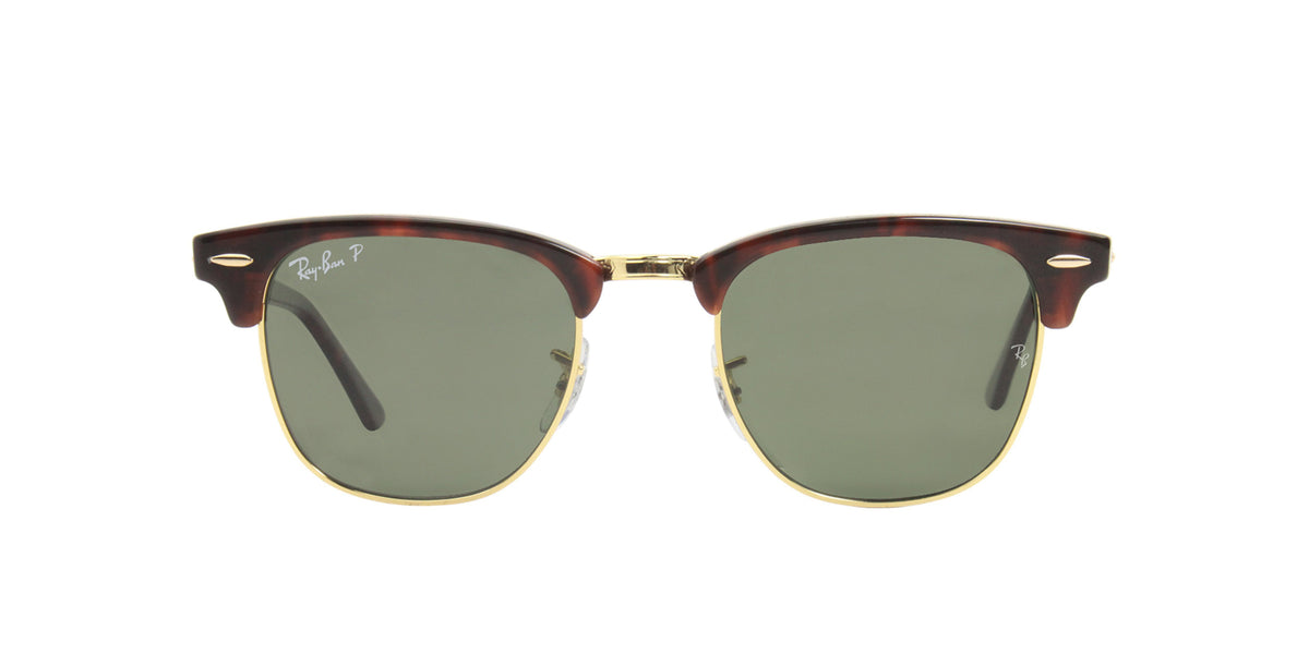 Ray Ban - Clubmaster Gold Oval Unisex Sunglasses - 49mm-Sunglasses-Designer Eyes