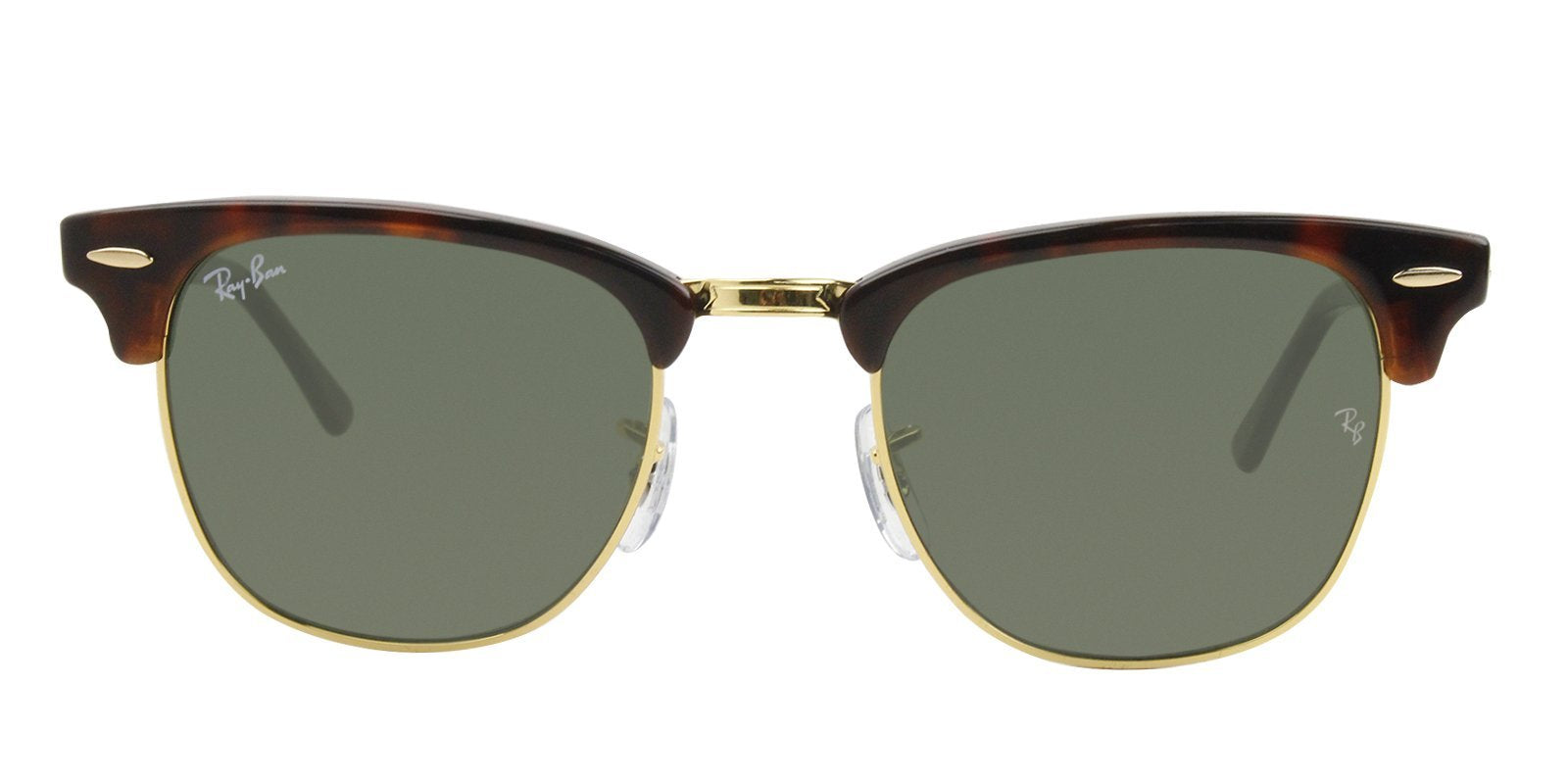 Ray Ban - Clubmaster Tortoise Oval Unisex Sunglasses - 49mm-Sunglasses-Designer Eyes