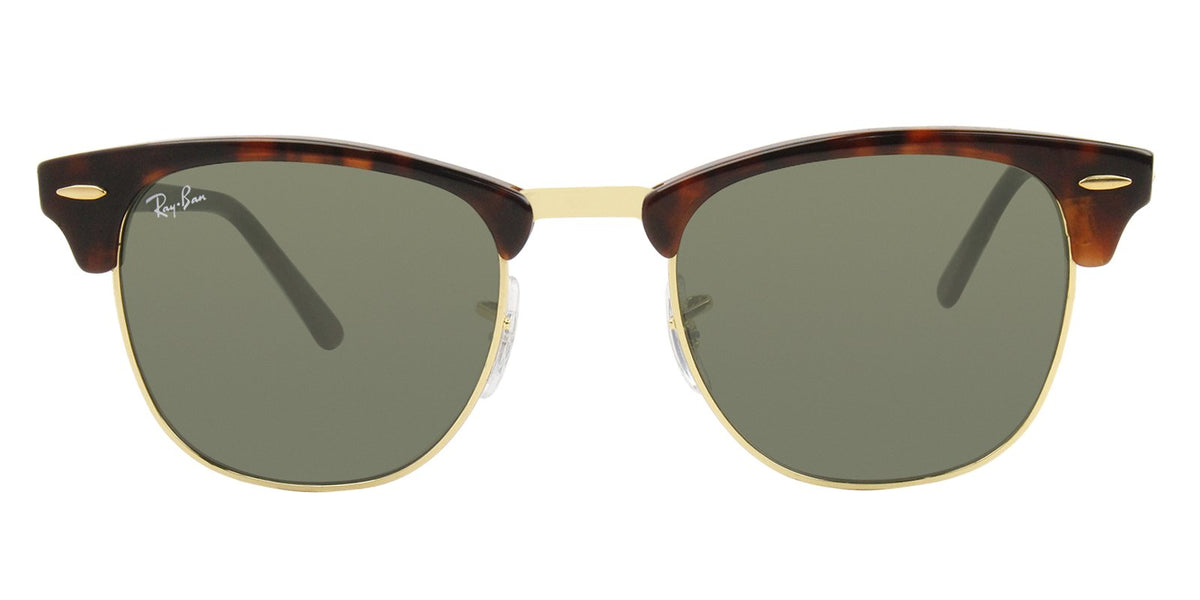 Ray Ban - Clubmaster Tortoise Oval Unisex Sunglasses - 51mm-Sunglasses-Designer Eyes