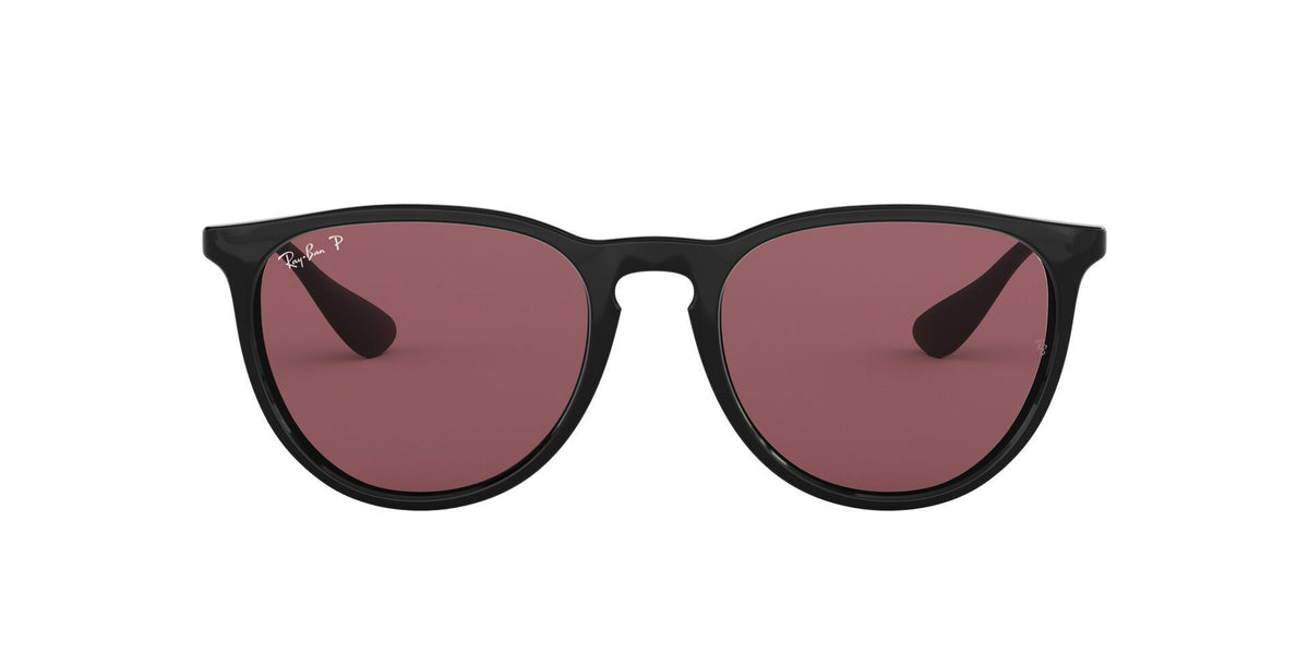 Ray Ban - Erika Black Oval Women Sunglasses - 54mm-Sunglasses-Designer Eyes