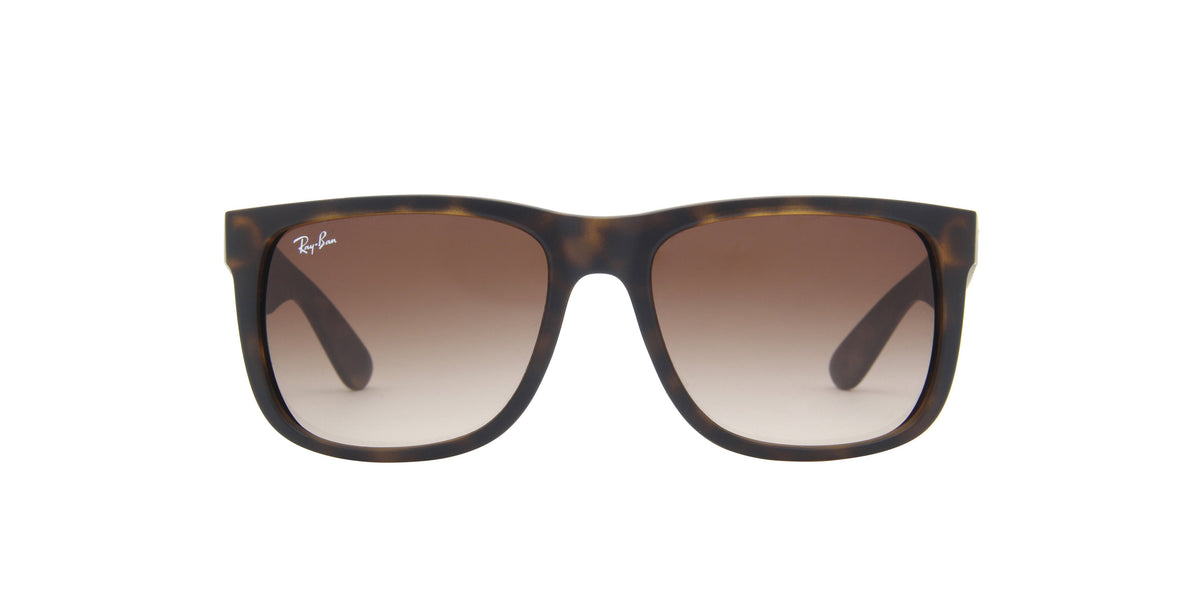 Ray Ban - Justin Tortoise Rectangular Unisex Sunglasses - 54mm-Sunglasses-Designer Eyes