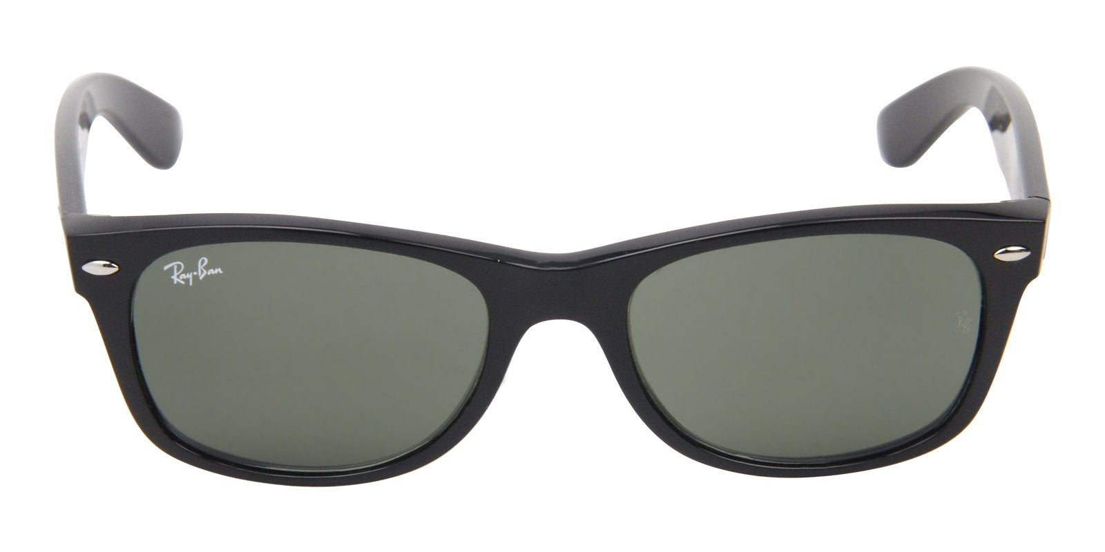 Ray Ban - New Wayfarer Black Wayfarer Unisex Sunglasses - 51mm-Sunglasses-Designer Eyes