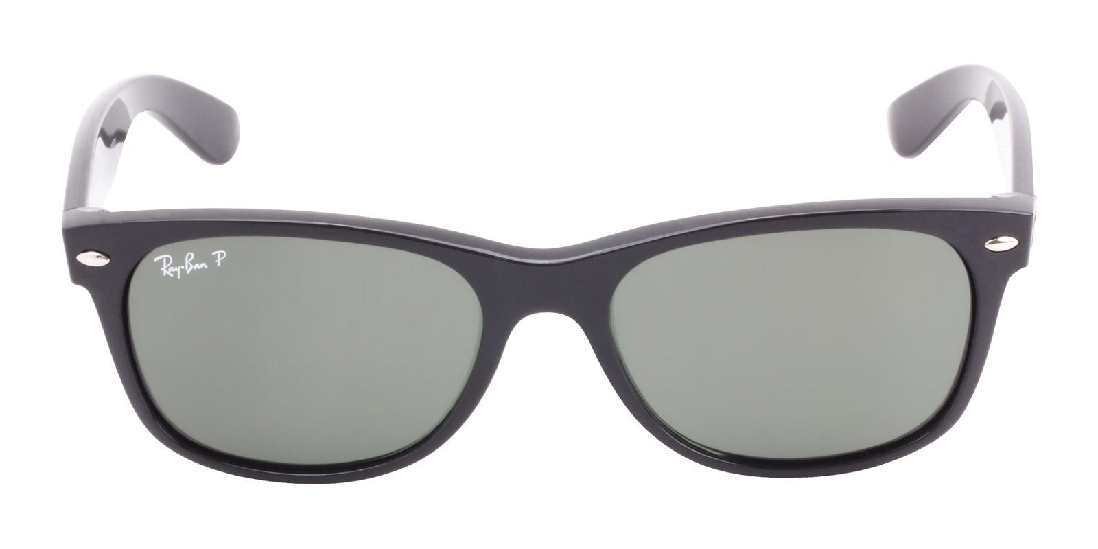 Ray Ban - New Wayfarer Black Wayfarer Unisex Sunglasses - 55mm-Sunglasses-Designer Eyes
