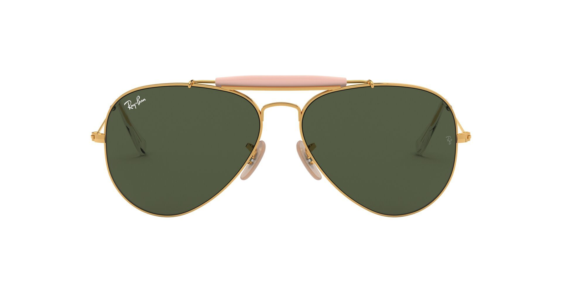 Ray Ban - RB3029 Gold Aviator Men Sunglasses - 62mm-Sunglasses-Designer Eyes