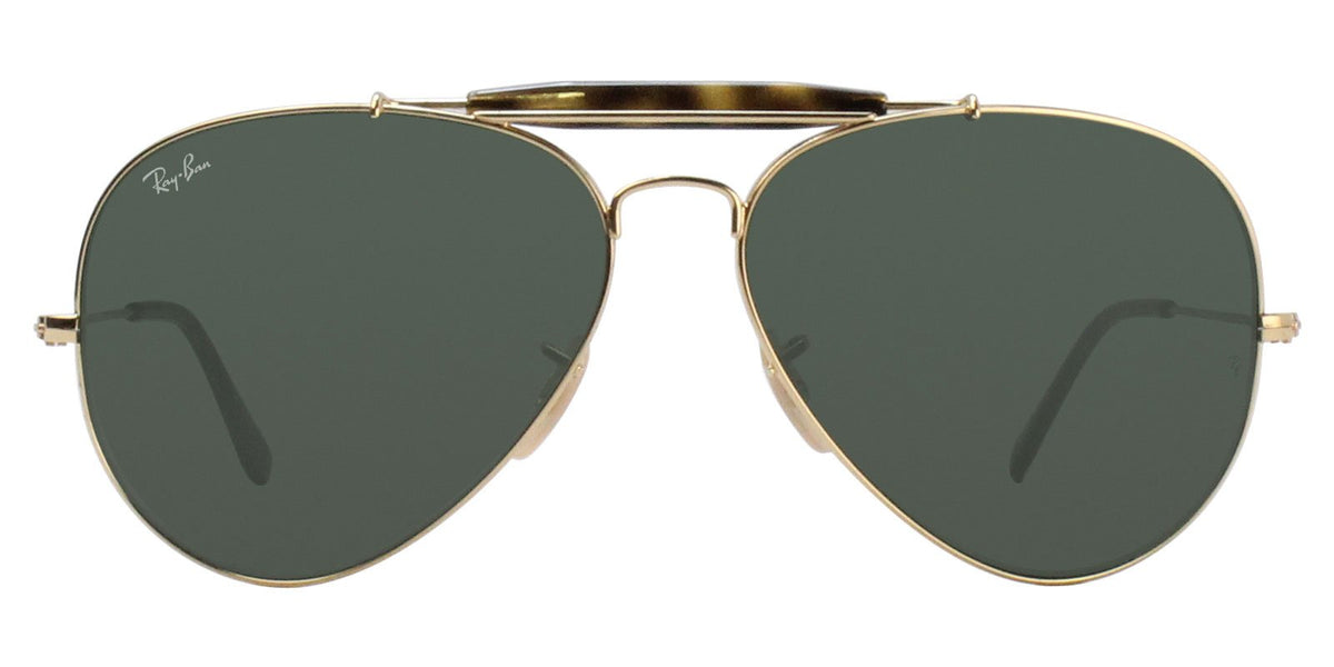 Ray Ban - RB3029 Gold Aviator Unisex Sunglasses - 62mm-Sunglasses-Designer Eyes