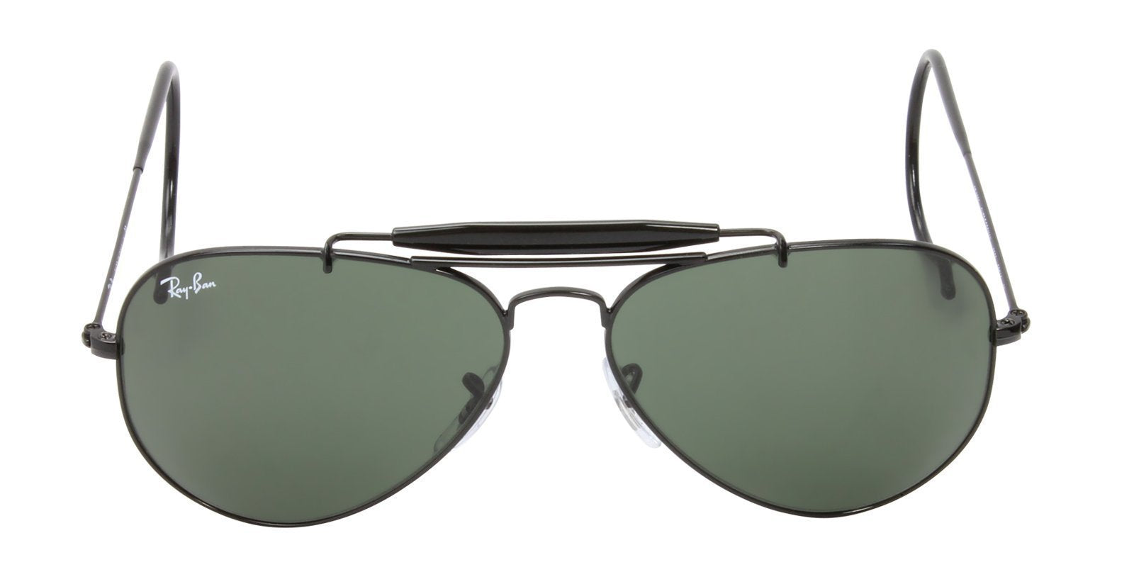 Ray Ban - RB3030 Black Aviator Unisex Sunglasses - 58mm-Sunglasses-Designer Eyes
