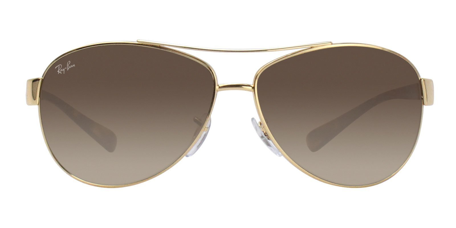 Ray Ban - RB3386 Gold Aviator Men Sunglasses - 63mm-Sunglasses-Designer Eyes