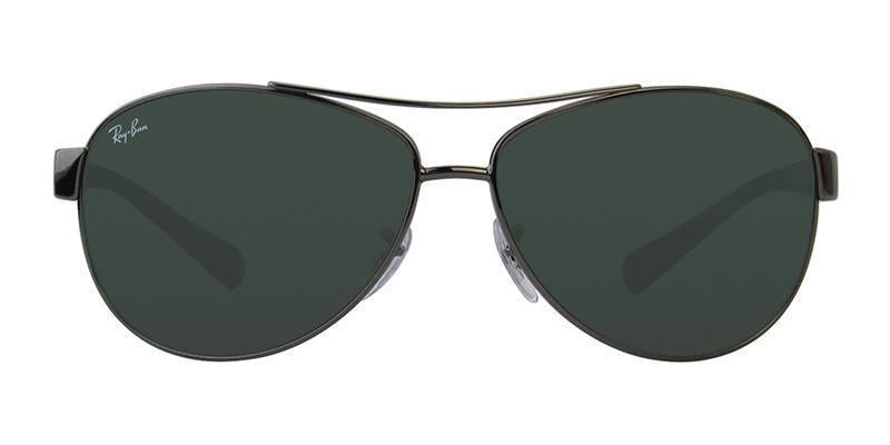 Ray Ban - RB3386 Gray Aviator Men Sunglasses - 63mm-Sunglasses-Designer Eyes
