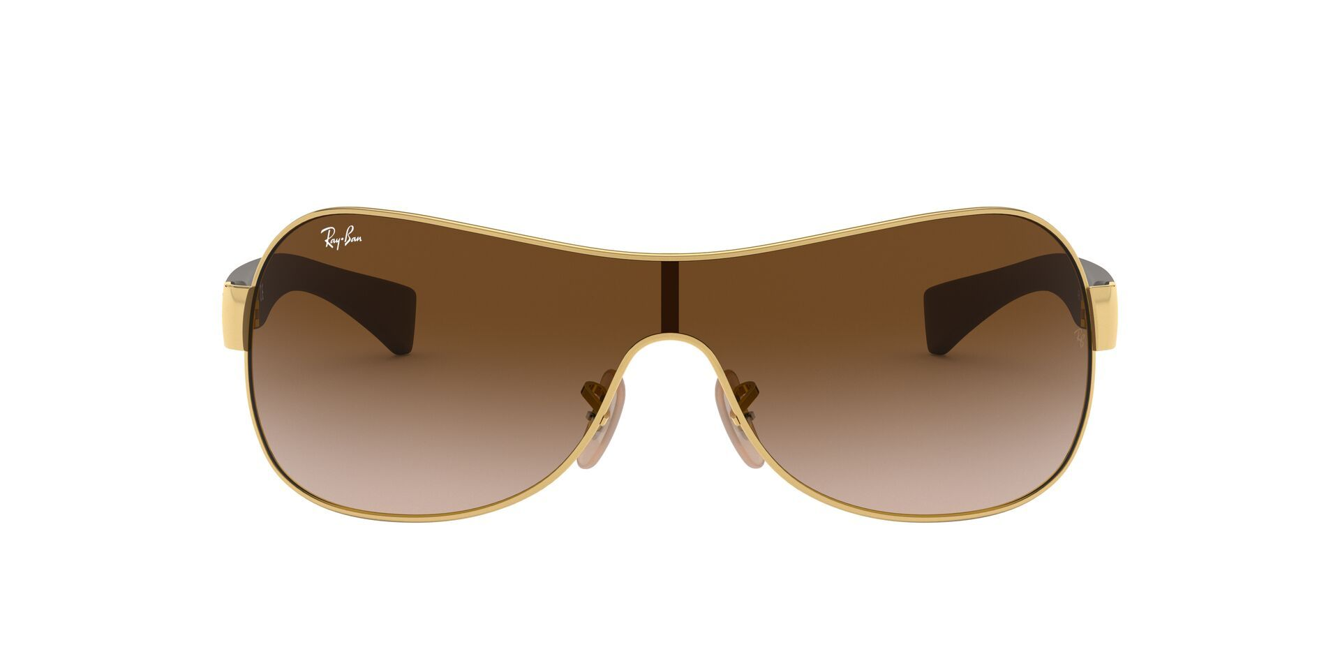 Ray Ban - RB3471 Gold Shield Unisex Sunglasses - 132mm-Sunglasses-Designer Eyes