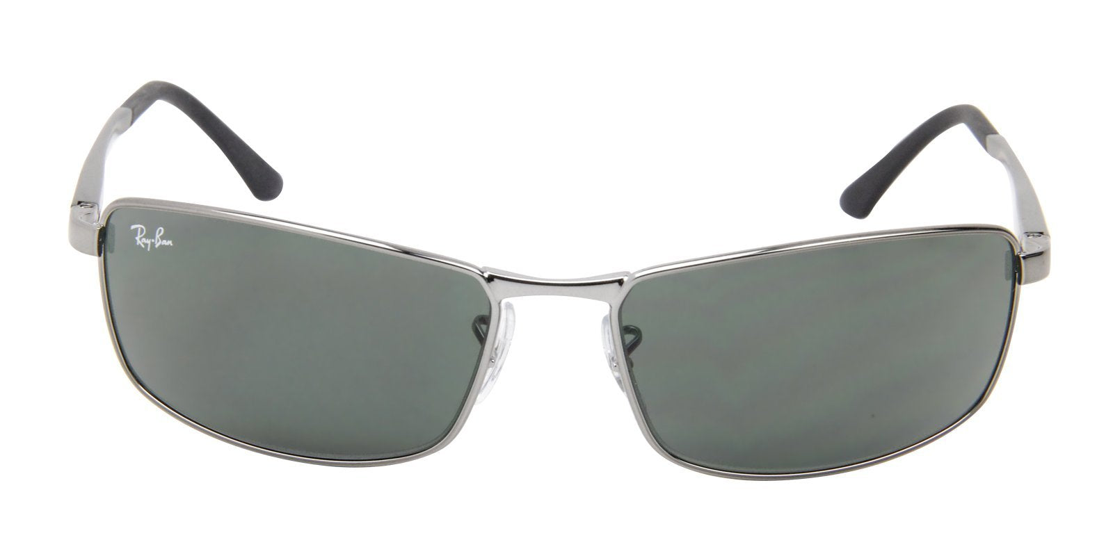 Ray Ban - RB3498 Gray Rectangular Men Sunglasses - 61mm-Sunglasses-Designer Eyes