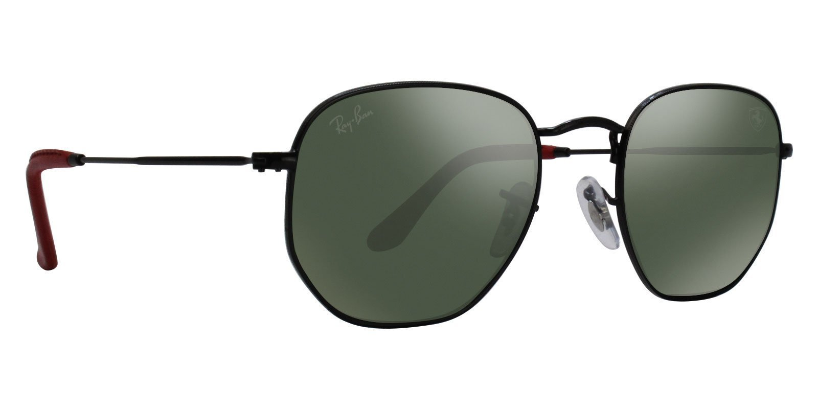 Ray Ban - RB3548NM Black Oval Unisex Sunglasses - 51mm-Sunglasses-Designer Eyes